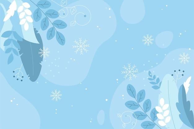 Platte ontwerp winter laat achtergrond