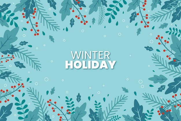 Platte ontwerp winter planten achtergrond