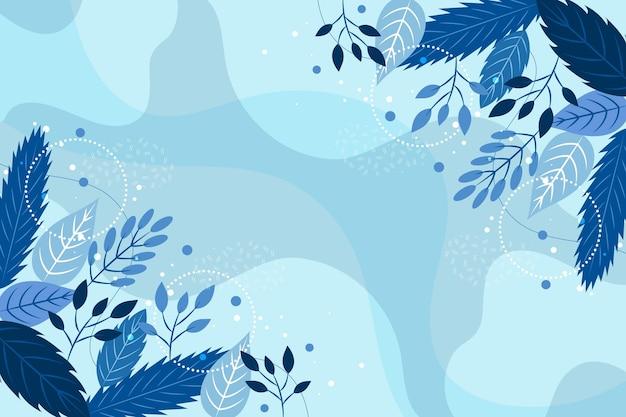 Platte ontwerp winterbloemen behang