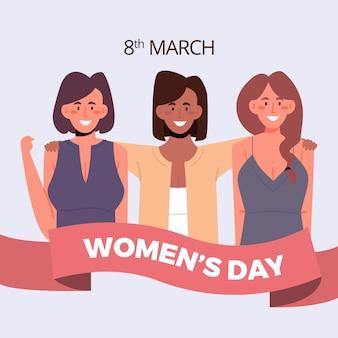 Platte ontwerp womens dag concept