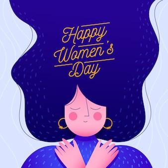 Platte ontwerp womens dag evenemententhema