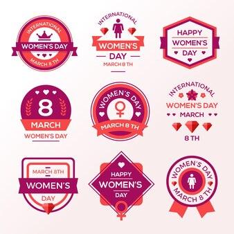 Platte ontwerp womens dag label collectie design
