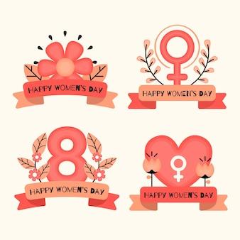 Platte ontwerp womens dag label collectie