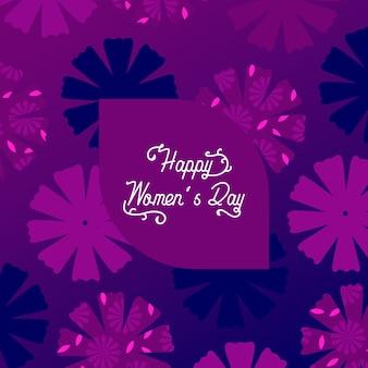 Platte ontwerp womens dag viering ontwerp