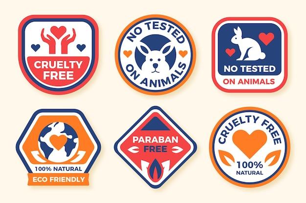 Platte ontwerp wreedheid gratis badge collectie