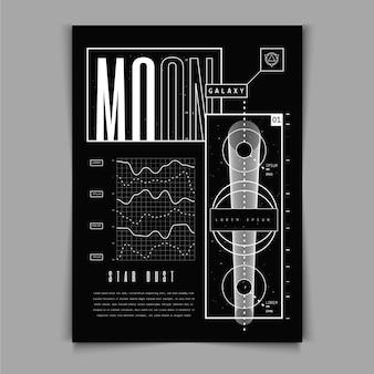Platte ontwerp y2k poster