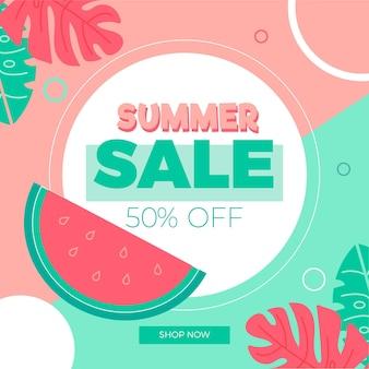 Platte ontwerp zomer promotionele verkoop