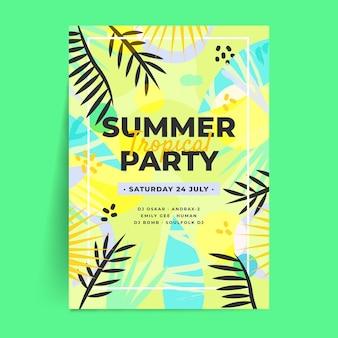 Platte ontwerp zomerfeest poster