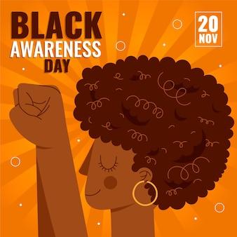 Platte ontwerp zwarte bewustzijnsdag