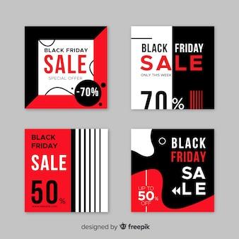 Platte ontwerp zwarte vrijdag banners