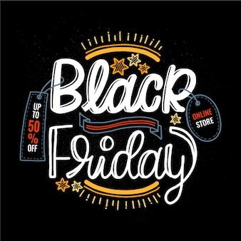 Platte ontwerp zwarte vrijdag concept
