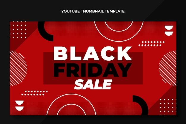 Platte ontwerp zwarte vrijdag youtube thumbnail