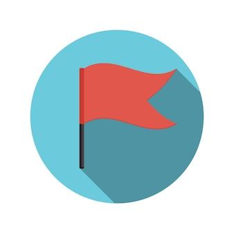 Platte ontwerpconcept vlag vectorillustratie met lange schaduw. eps10