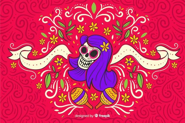Platte ontwerpdag van de dode achtergrond