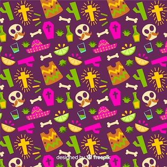 Platte ontwerpdag van het dode naadloze patroon