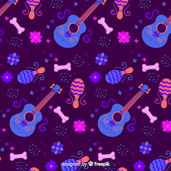 Platte ontwerpdag van het dode patroon