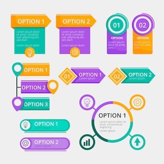 Platte ontwerpelementen infographic