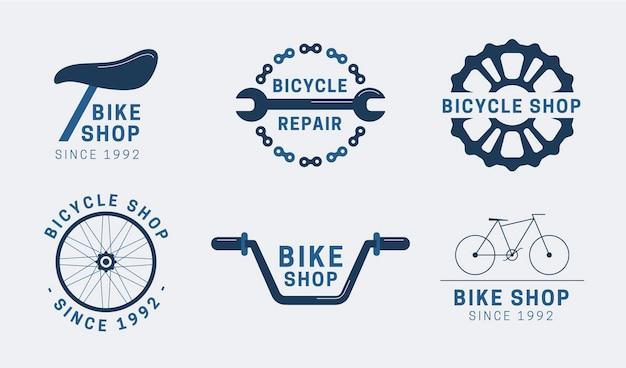 Platte ontwerpset logo sjabloon