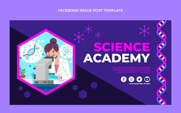 Platte ontwerpsjabloon van wetenschap facebook post