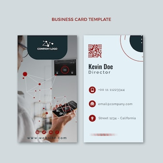 Platte ontwerptechnologie verticaal visitekaartje
