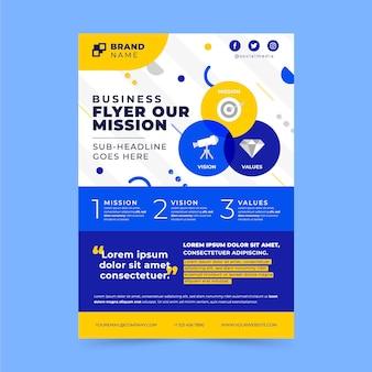 Platte onze missie flyer