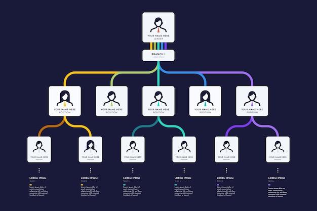 Platte organigram infographic
