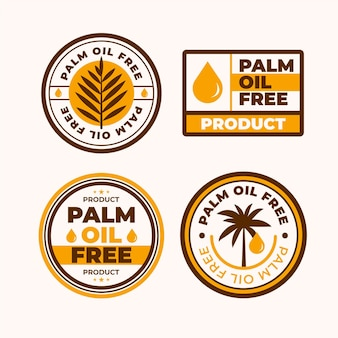 Platte palmolie-insignes