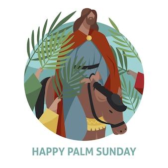 Platte palmzondag illustratie