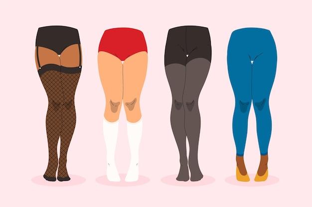 Platte panty panty's collectie