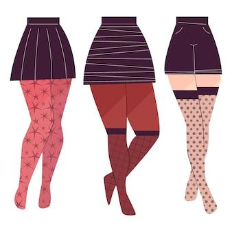 Platte panty panty set