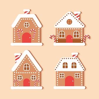 Platte peperkoek huis pack