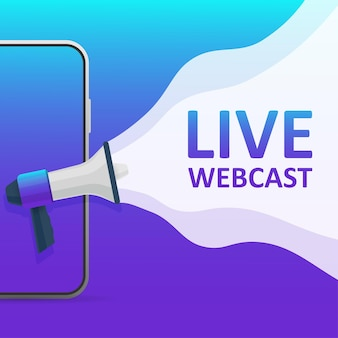 Platte pictogram op blauwe achtergrond. logo ontwerp. live streaming platte vector pictogram.