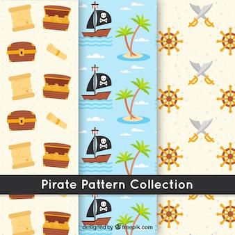 Platte piraat patroon collectie