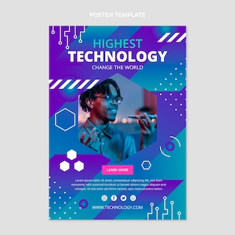Platte poster met minimale technologie