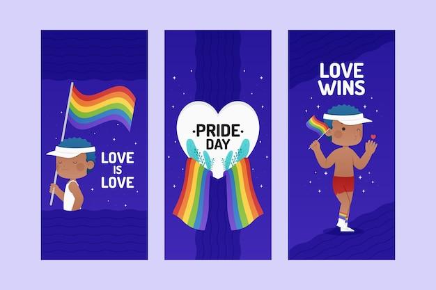 Platte pride-dag instagram-verhalencollectie