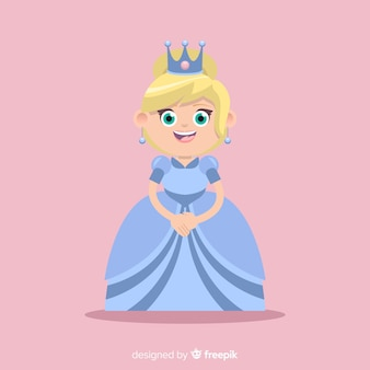 Platte prinses achtergrond