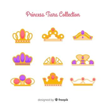 Platte prinses tiara collectie