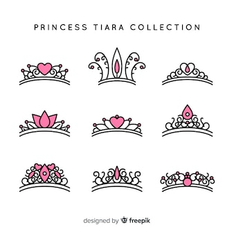 Platte prinses tiara collectie