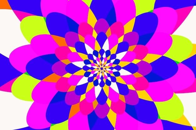 Platte psychedelische groovy achtergrond