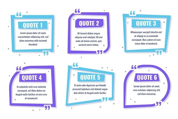 Platte quote box frame-collectie