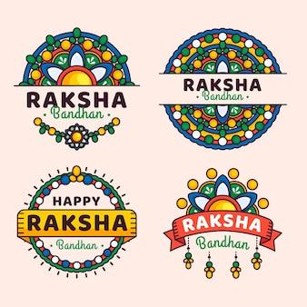 Platte raksha bandhan-insignes