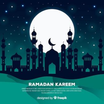 Platte ramadan achtergrond