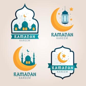 Platte ramadan badge-collectie