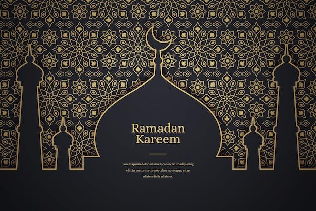 Platte ramadan kareem achtergrond