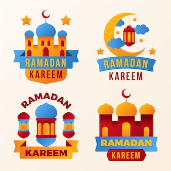 Platte ramadan labelcollectie