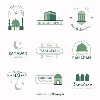 Platte ramadan labelverzameling