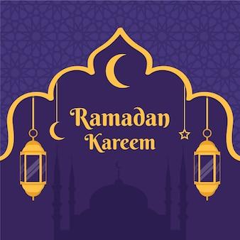 Platte ramadan ontwerpconcept