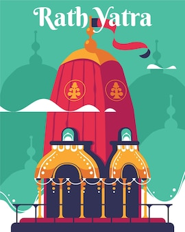 Platte rat yatra illustratie