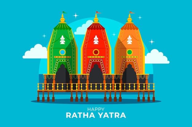 Platte rath yatra illustratie