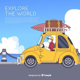Platte reisachtergrond